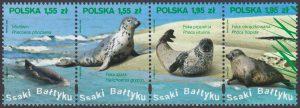 Ssaki Bałtyku znaczki nr 4283-4286