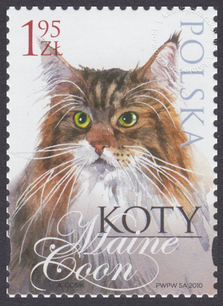 Koty znaczek nr 4320