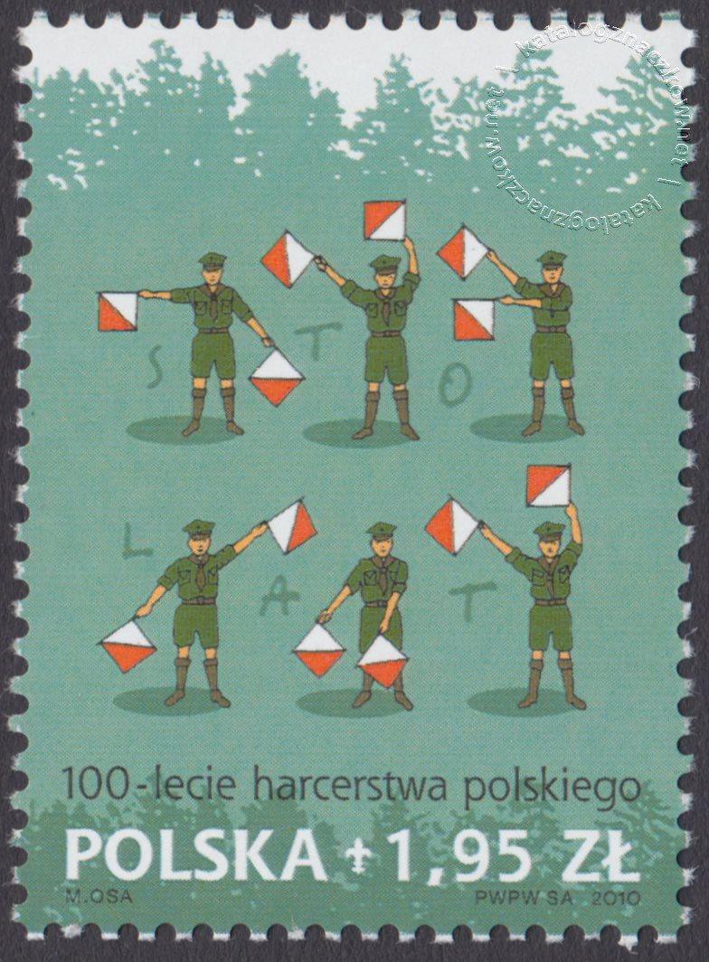 100-lecie harcerstwa polskiego znaczek nr 4340