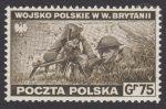 Zniszczenia dokonane przez Niemców w Polsce. Wojsko polskie w Wielkiej Brytanii - znaczek nr E338