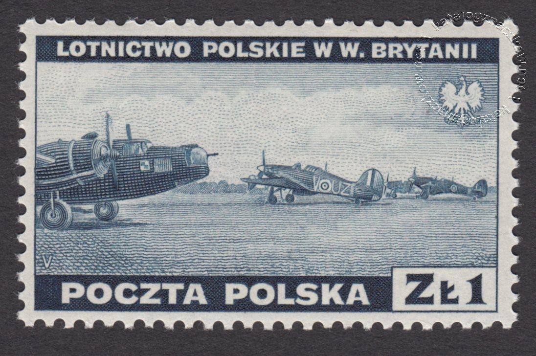 Zniszczenia dokonane przez Niemców w Polsce. Wojsko polskie w Wielkiej Brytanii znaczek nr G338