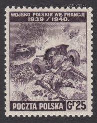 Polskie siły zbrojne w walce z Niemcami - znaczek nr K338