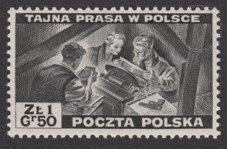 Polskie siły zbrojne w walce z Niemcami - znaczek nr O338