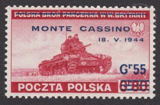 Zdobycie Monte Cassino - znaczek nr R338