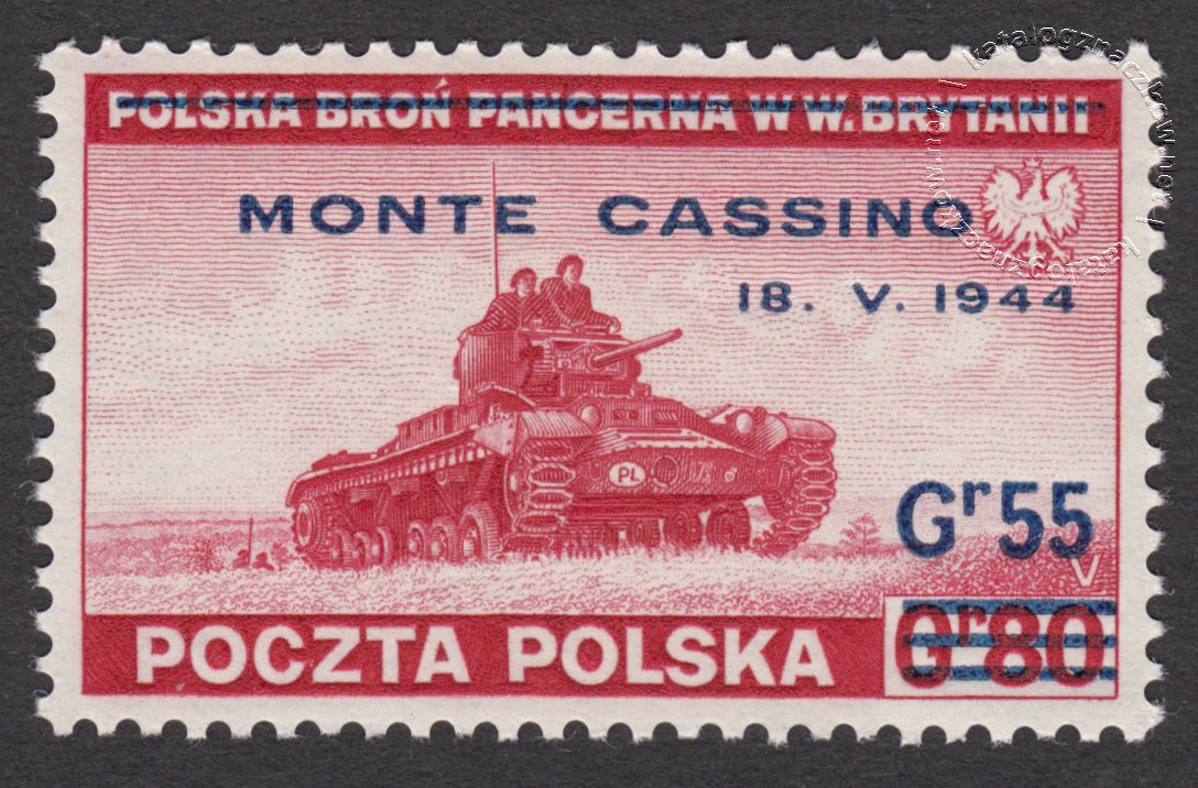 Zdobycie Monte Cassino znaczek nr R338