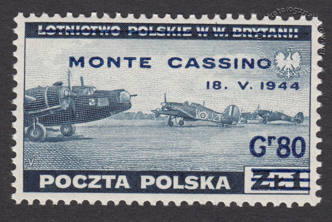 Zdobycie Monte Cassino znaczek nr S338