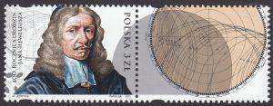 400 rocznica urodzin Jana Heweliusza - znaczek nr 4355