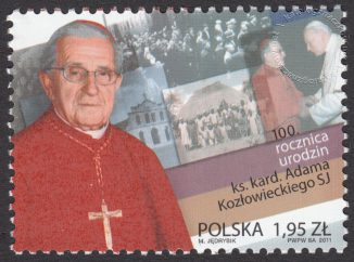 100 rocznica urodzin ks. kard. Adama Kozłowieckiego - znaczek nr 4363