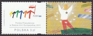 Polska Prezydencja w Radzie Unii Europejskiej 2011 - znaczek nr 4376