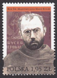 Rok Św. Maksymiliana Marii Kolbe - znaczek nr 4378