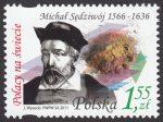 Polacy na świecie - Michał Sędziwój - znaczek nr 4379