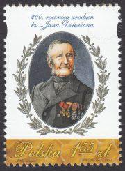 200. rocznica urodzin ks. Jana Dzierżona - znaczek nr 4383
