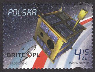 Pierwszy polski satelita naukowy - znaczek nr 4389