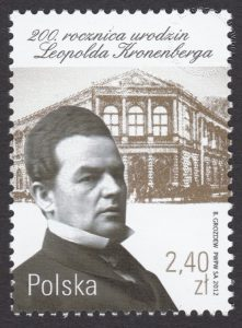 200 rocznica urodzin Leopolda Kronenberga - znaczek nr 4403