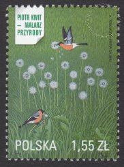 Piotr Kwit - malarz przyrody - znaczek nr 4435