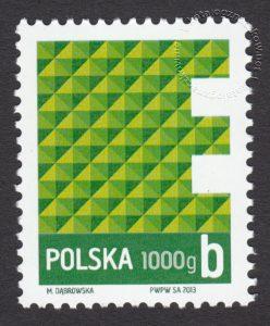 Znaczek obiegowy ekonomiczny - 1000 g B - E - znaczek nr 4450