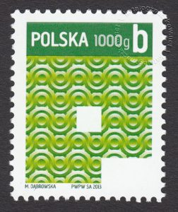 Znaczek obiegowy priorytetowy - 1000 g B - P - znaczek nr 4452
