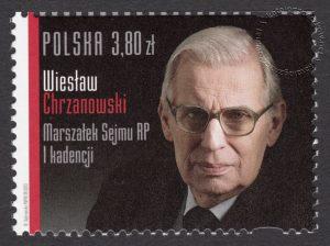 Wiesław Chrzanowski Marszałek Sejmu RP I kadencji - znaczek nr 4454