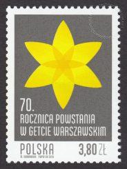 70. rocznica Powstania w Getcie Warszawskim - znaczek nr 4455