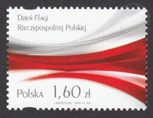 Dzień Flagi Rzeczypospolitej Polskiej - znaczek nr 4456