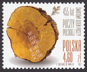 Światowy Dzień Poczty - 455 lat Poczty Polskiej - znaczek nr 4496