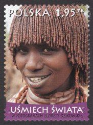 Uśmiech świata w fotografiach Elżbiety Dzikowskiej - znaczek nr 4365