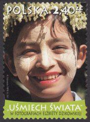 Uśmiech świata w fotografiach Elżbiety Dzikowskiej - znaczek nr 4366