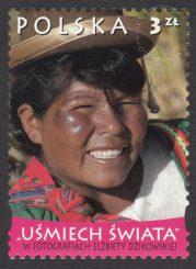 Uśmiech świata w fotografiach Elżbiety Dzikowskiej - znaczek nr 4369