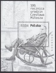 100 rocznica urodzin Czesława Miłosza - Blok 161C