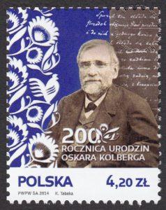 200 rocznica urodzin Oskara Kolberga - znaczek nr 4510