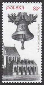 650 rocznica konsekracji Katedry Wawelskiej - znaczek nr 4515