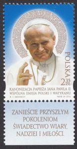 Kanonizacja Papieża Jana Pawła II - znaczek nr 4516
