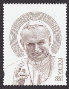 Kanonizacja Papieża Jana Pawła II - znaczek nr 4517