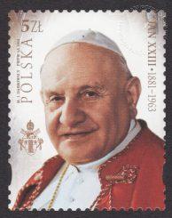Kanonizacja Papieża Jana Pawła II i Jana XXIII - znaczek nr 4520