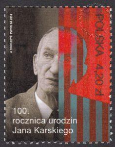 100 rocznica urodzin Jana Karskiego - znaczek nr 4524