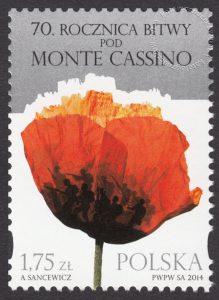 70 rocznica Bitwy pod Monte Casino - znaczek nr 4528