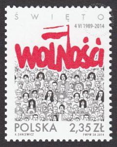 Święto Wolności - znaczek nr 4529