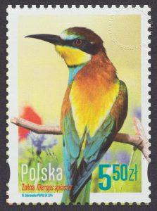 Polskie ptaki - znaczek nr 4540