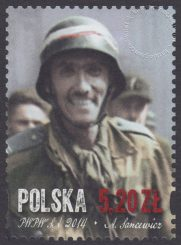 70 rocznica wybuchu Powstania Warszawskiego - znaczek nr 4541
