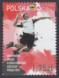 Mistrzostwa świata w piłce siatkowej mężczyzn Polska 2014 - znaczek nr 4549