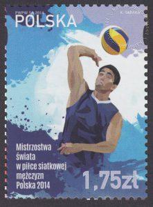 Mistrzostwa świata w piłce siatkowej mężczyzn Polska 2014 - znaczek nr 4550