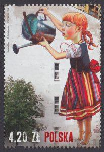 Sztuka ulicy - Street Art. - znaczek nr 4556