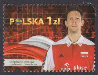 Złoci Medaliści FIVB Mistrzostw świata w piłce siatkowej mężczyzn Polska 2014 - znaczek nr 4575