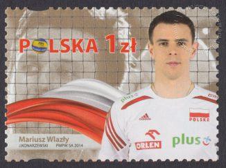 Złoci Medaliści FIVB Mistrzostw świata w piłce siatkowej mężczyzn Polska 2014 - znaczek nr 4583