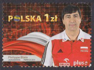 Złoci Medaliści FIVB Mistrzostw świata w piłce siatkowej mężczyzn Polska 2014 - znaczek nr 4590