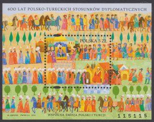 600 lat polsko-tureckich stosunków dyplomatycznych - Blok 186