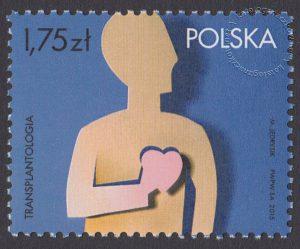 Transplantologia - znaczek nr 4606