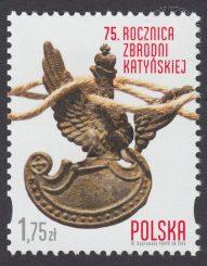 75 rocznica Zbrodni Katyńskiej - znaczek nr 4609
