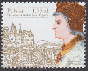 600 rocznica urodzin Jana Długosza - znaczek nr 4658