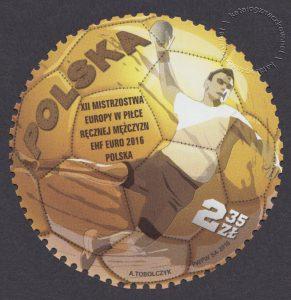 XII Mistrzostwa Europy w Piłce Ręcznej Mężczyzn EHF EURO 2016 Polska - znaczek nr 4663